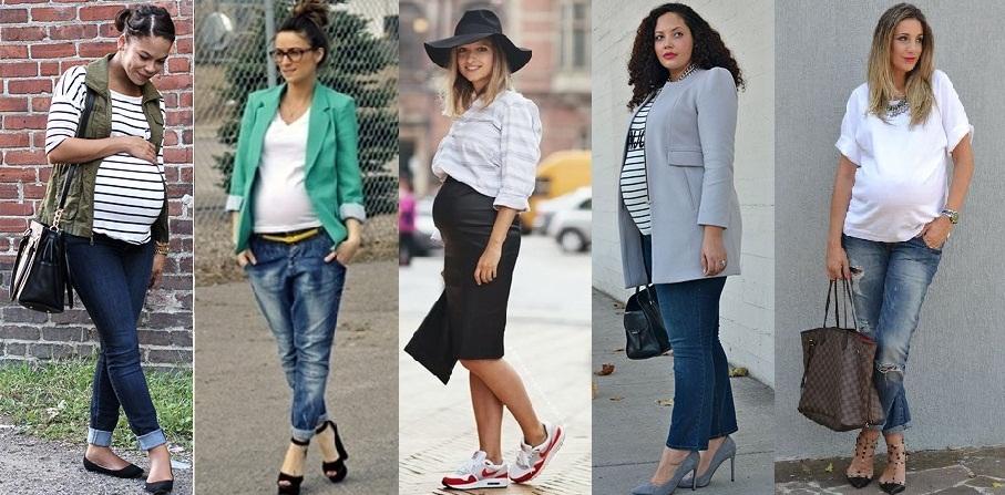 Como ficar estilosa durante a gravidez