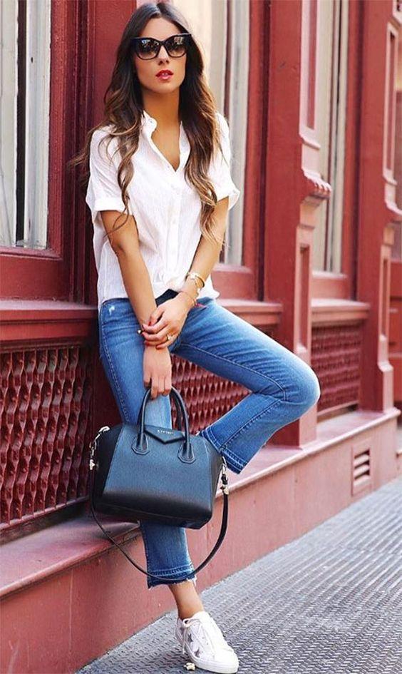 9f4d99b5c A camisa branca é um dos itens mais importantes do guarda-roupas clássico,  inclusive nos momentos mais casuais, coordenada com outros elementos  clássicos, ...