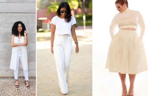 Inspirações de looks all white para o réveillon