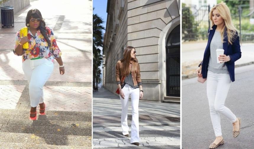 Como usar a calça branca a favor da sua silhueta