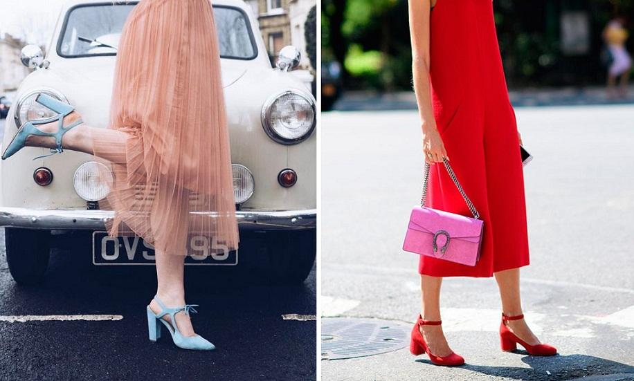 Sapato colorido: As cores de sapato da Primavera 2018