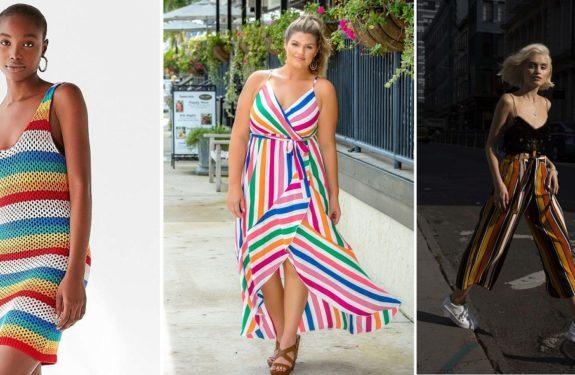 Como usar listras coloridas no verão 2019